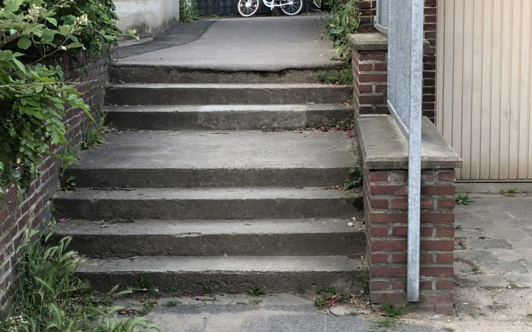 Rampe statt Treppe an der Stauffenbergstraße