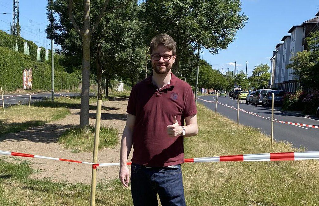Parken auf der Wildblumenwiese an der Gielenstraße wird verhindert